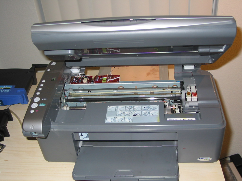 CX4200, Direct InkJet, PCB Resist, Printing Modifications By